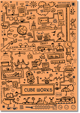CUBEWORKS- FLEXI- ORANGE