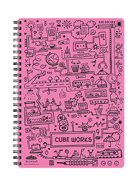 CUBEWORKS- RING-BOOK -PINK