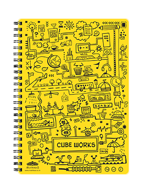CUBEWORKS- RING-BOOK- YELLOW